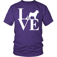 Love Pug Unisex T-Shirt - Nvr2Lte2Shop.com