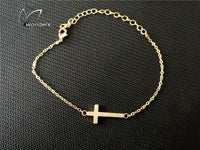 Horizontal Sideways Cross Bracelet - Nvr2Lte2Shop.com