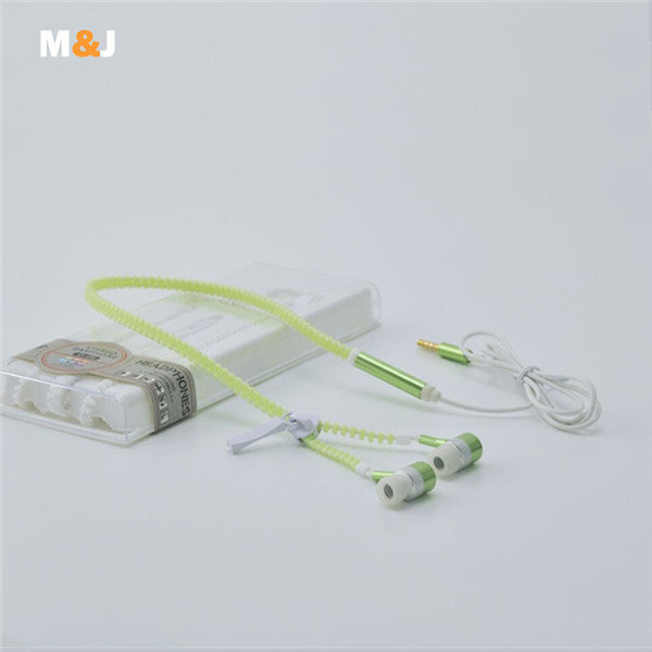 HOT SALE! Glow In The Dark Zipper Style Earbuds 6 Colors PROMO - Nvr2Lte2Shop.com