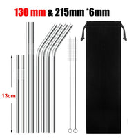 High Quality Stainless Steel Drinking Straw Set - Nvr2Lte2Shop.com