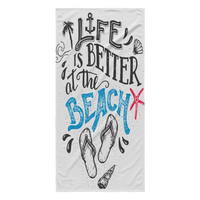 Life Is Better Beach Towel - Nvr2Lte2Shop.com