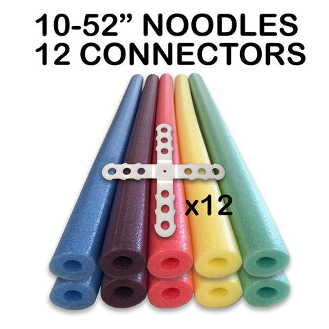 "Noodle Builder TM Construction Kit  10 of the 51"" Noodles & 12 Connectors"