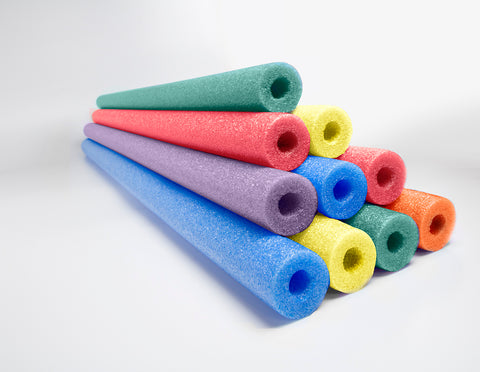Oodles of Noodles  Deluxe Foam Pool Swim Noodles - 10 PACK 52 Inch  Wholesale Pricing Bulk Pack and Free Connector - HonorTraders
