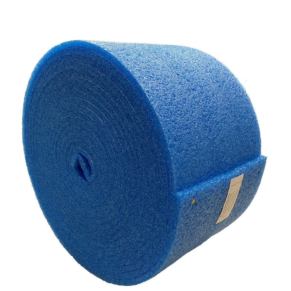 Blue Foam Sheet Roll 50 Feet x 12 Inch x 1/2 Inch thick for DIY Projects - Durable, easy to cut.
