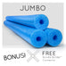 3 Pack Oodles Monster 55 Inch x 3.5 Inch Jumbo Swimming  Pool Noodle Foam Multi-Purpose - HonorTraders