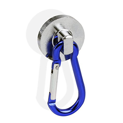 Atomic SUPER-Strong Neodymium Magnet Holds 35 Pounds Carabiner Snap Hook - HonorTraders