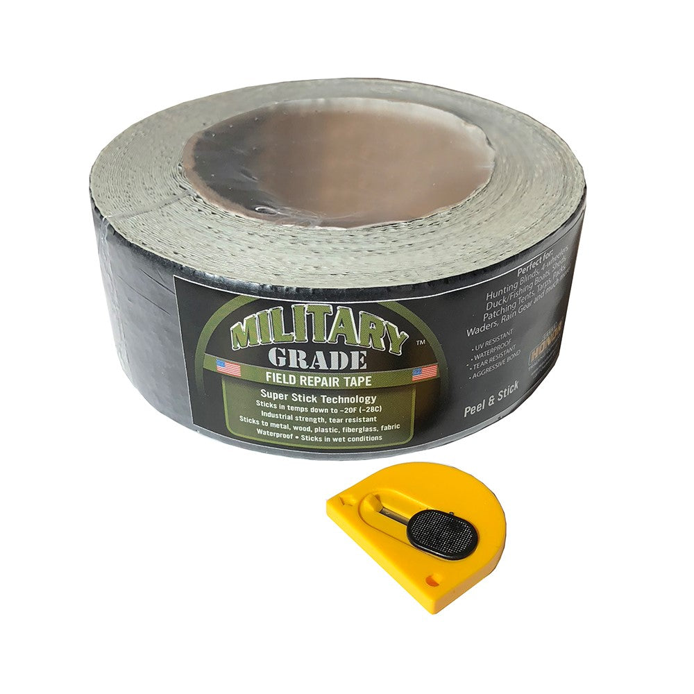 Military Grade™  High Strength Repair Patch Seal Water Proof Super Stick Tape True Timber Tape Cutter Included