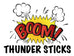 Oodles of Noodles Boom Thunder Sticks - Booming Noisemakers - Sports Cheer Clappers