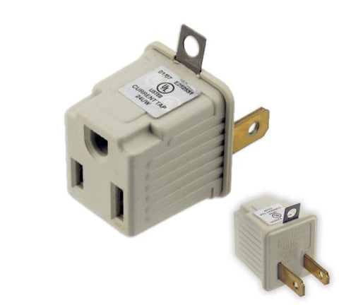 UL-Listed Plug Adapter - Convert 3-Prong Plug to 2-Prong - HonorTraders