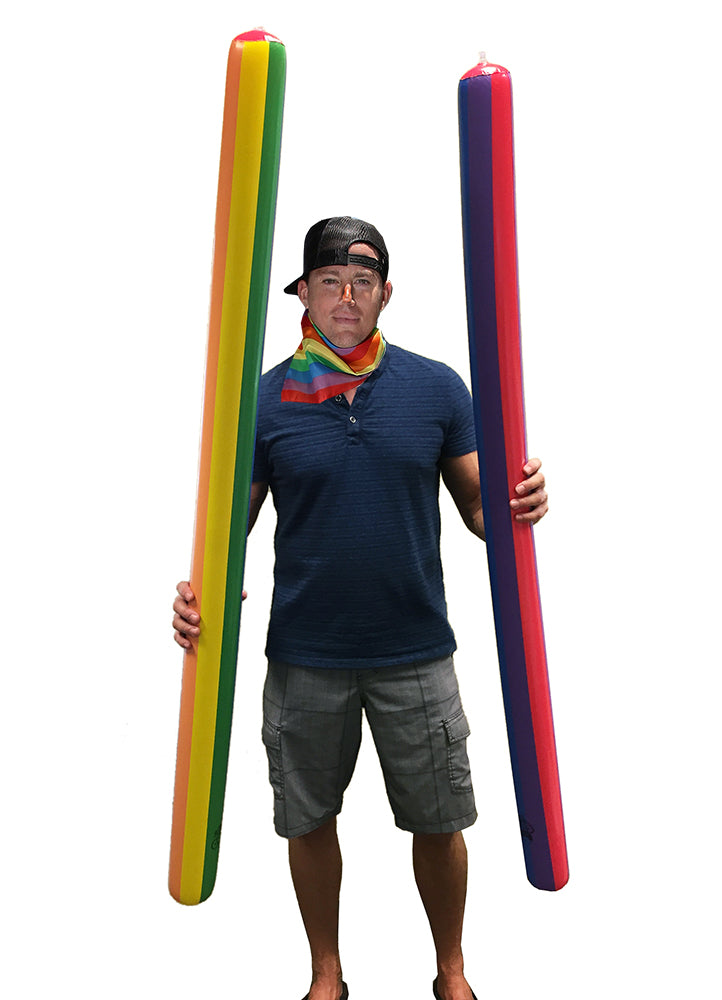 Rainbow Pride Inflatable Parade Noodle - HonorTraders