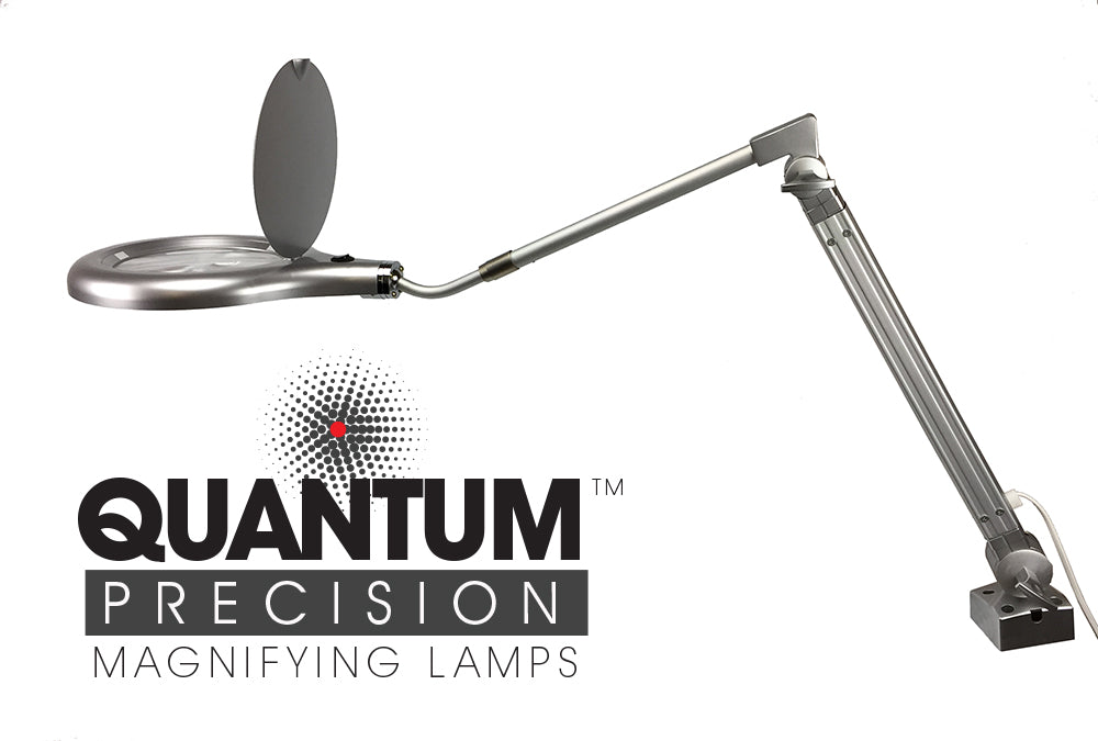 Quantum Precision 80 LED Magnifier Lamp - 7 Inch Lens Professional Lab Quality Efficient - HonorTraders