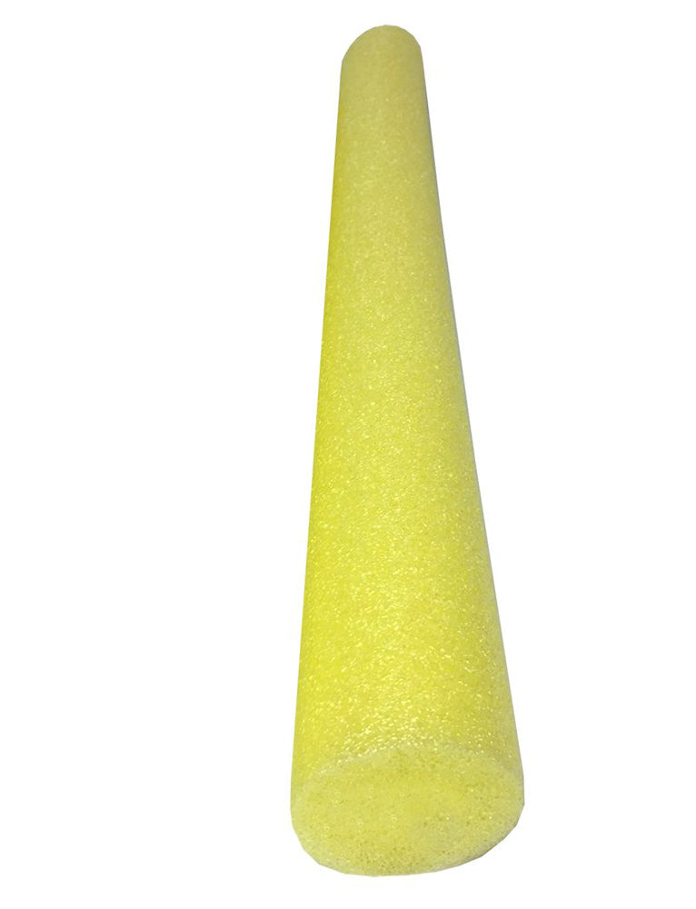 Solid Core Deluxe Foam Pool Swim Noodles - Single Yellow 5 Foot Length - HonorTraders