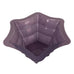 Purple Spiderweb Punch Bowl Halloween Candy Jumbo Size, Big Black Spider and Web Pattern - HonorTraders