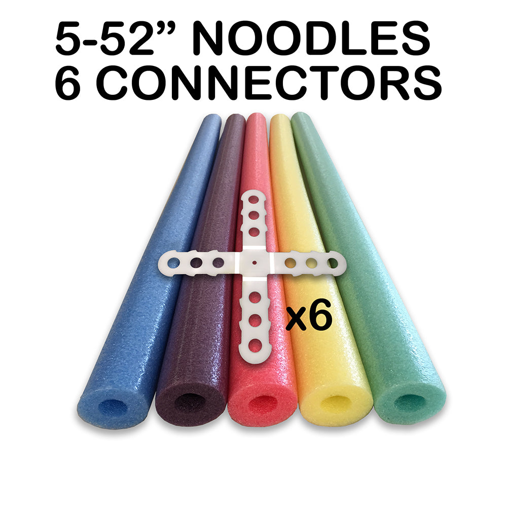 Noodle Builder TM Construction Kit  5 of the 52 Inch  Noodles & 6 Connectors - HonorTraders