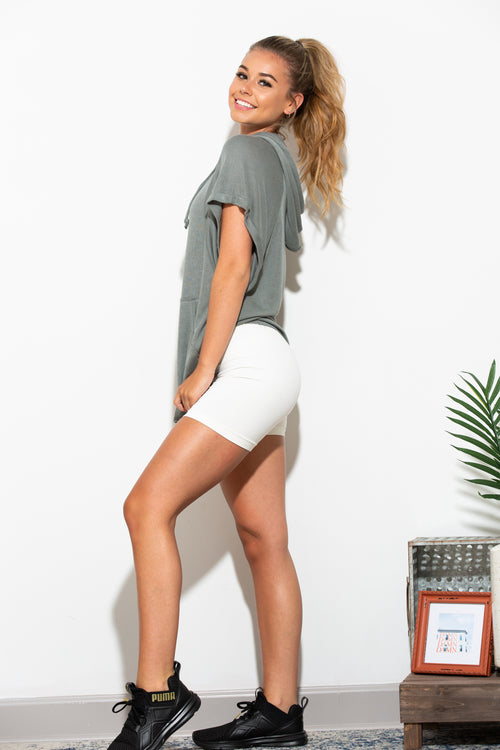 Bring It Back White Biker Shorts - impromptu boutique