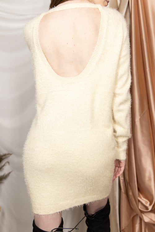 Give A Little Fuzzy Sweater Dress