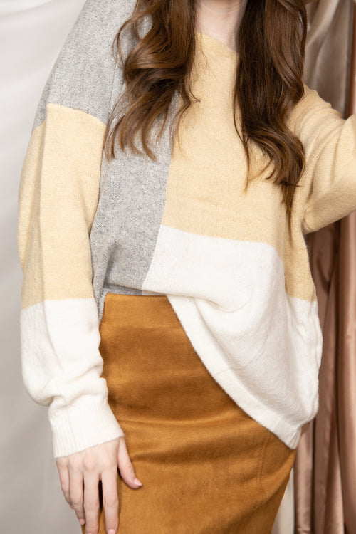Fall On Repeat Colorblock Sweater