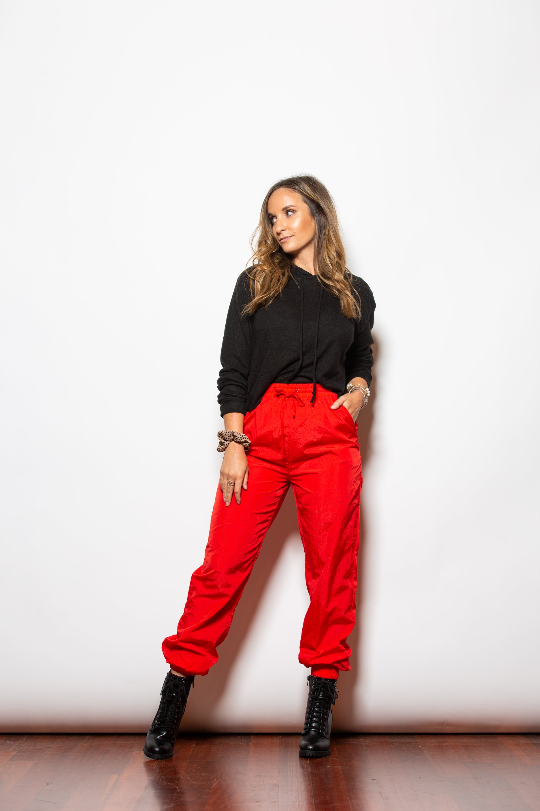 It Be Like That Red Windbreaker Pants - impromptu boutique