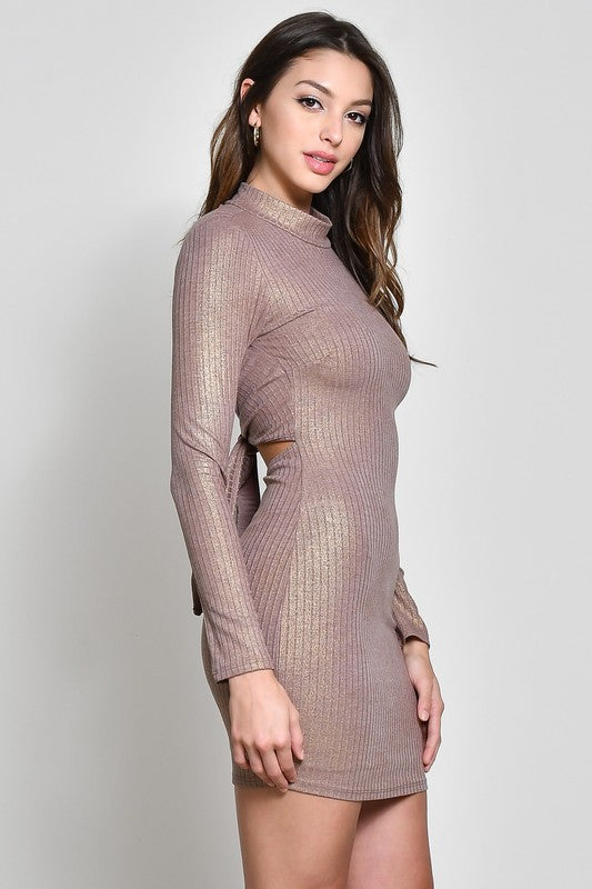 Toast To The Good Life Long Sleeve Dress
