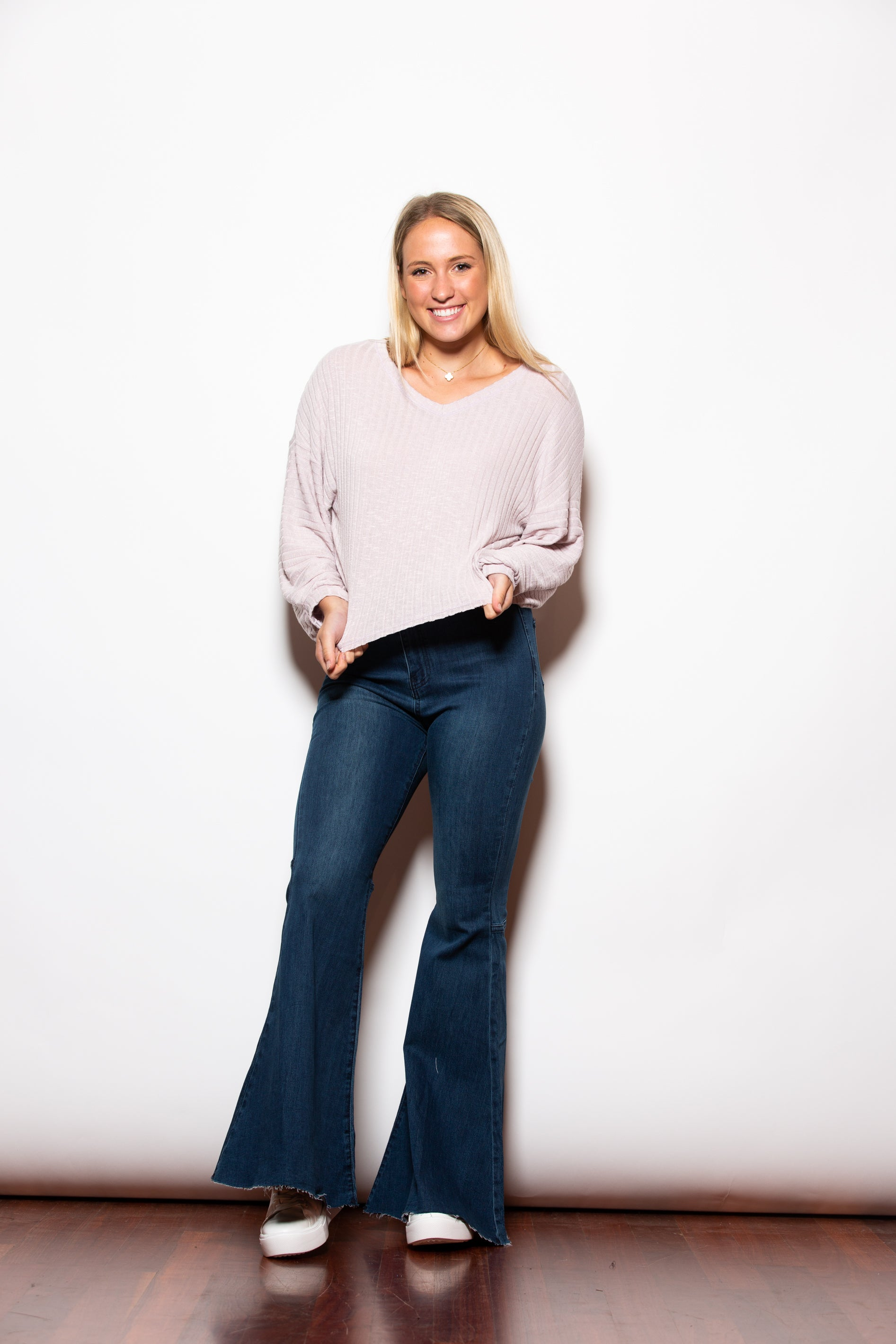 Holding On Long Sleeve Lilac Knit Top - impromptu boutique