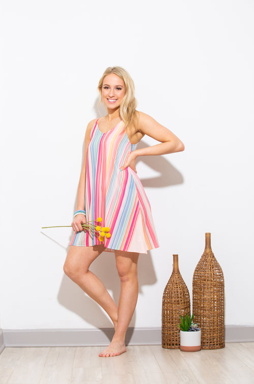 Key To Your Heart Striped Dress - impromptu boutique