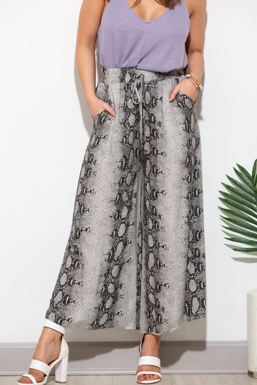 Going My Way Snake Skin Pants - impromptu boutique
