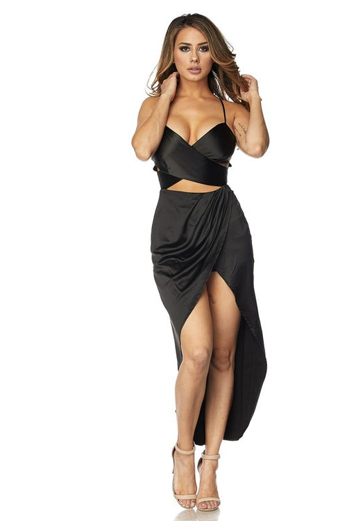 Kiss Me At Midnight Satin Maxi