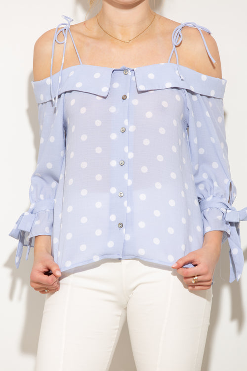 Sweetest Song Polka Dot Blouse