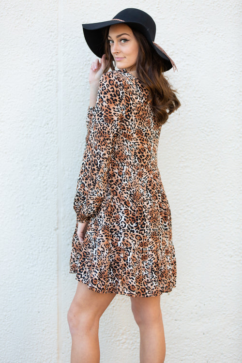 Be The One Leopard Swing Dress