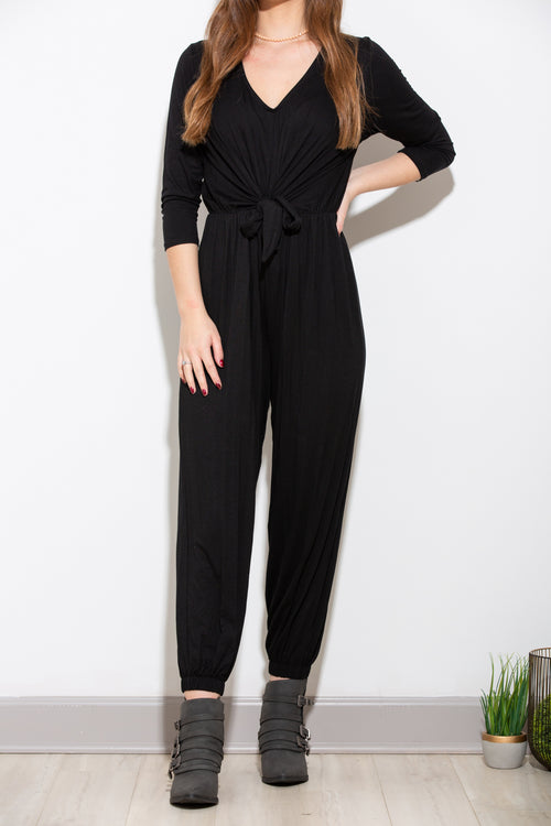More Time With You Black Jumpsuit