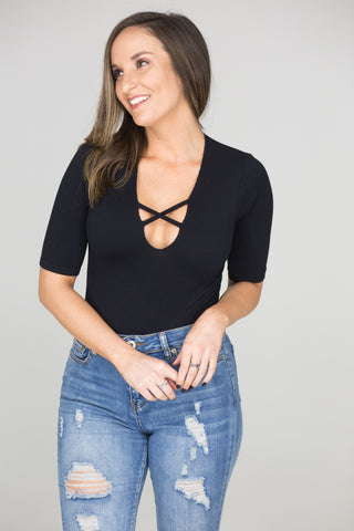 Making Me Blush Wrap Top