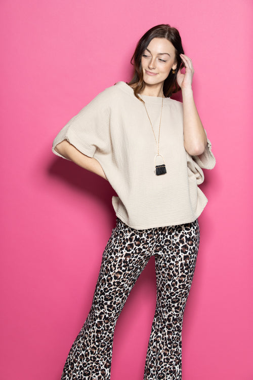 Say You Will Leopard Flares - impromptu boutique