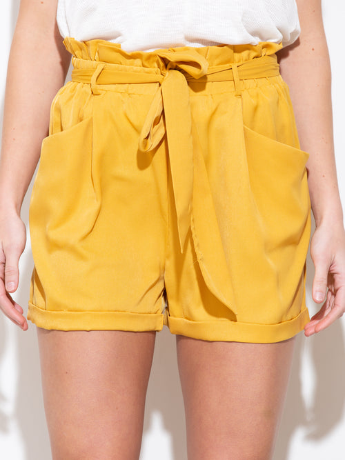 Where I'm Gonna Be Mustard Yellow Shorts