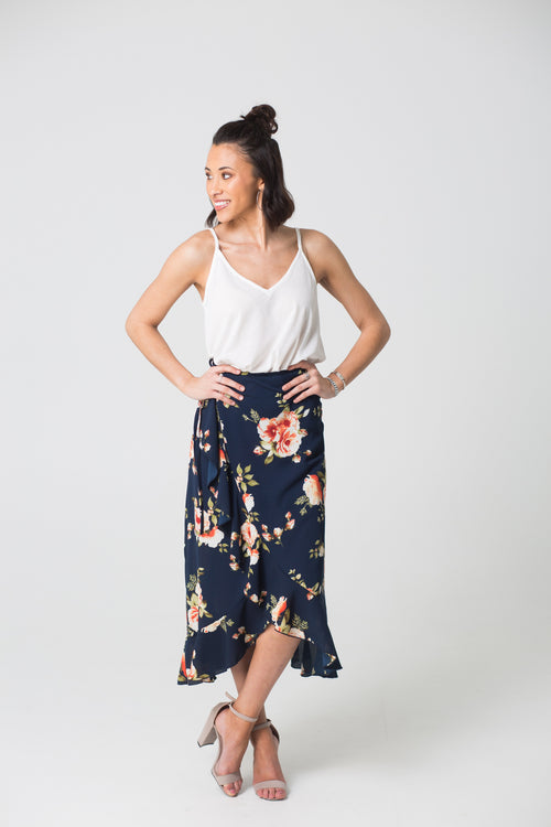 Finally Found You Floral Maxi Skirt