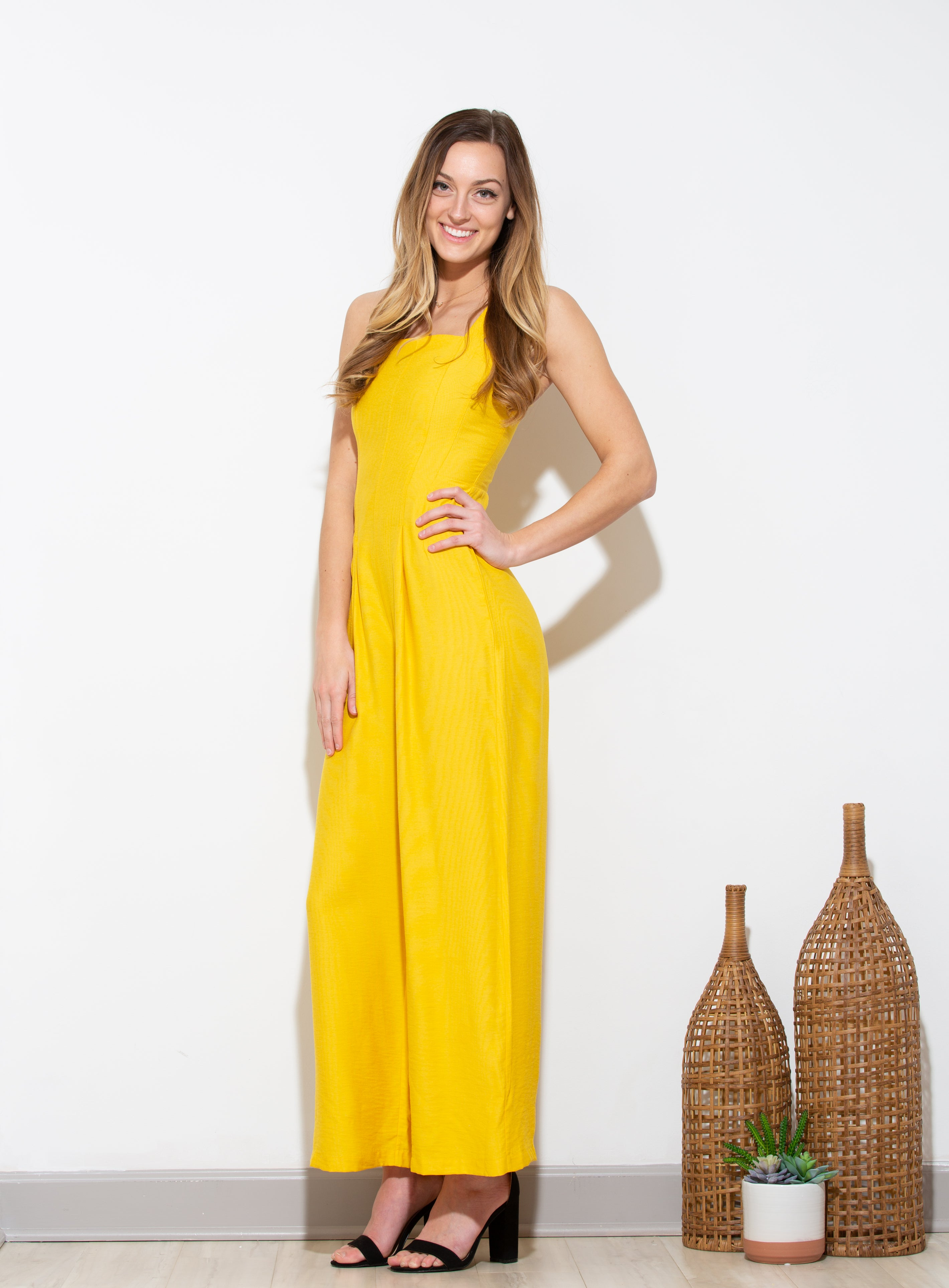 Girl Like You Yellow Jumpsuit - impromptu boutique