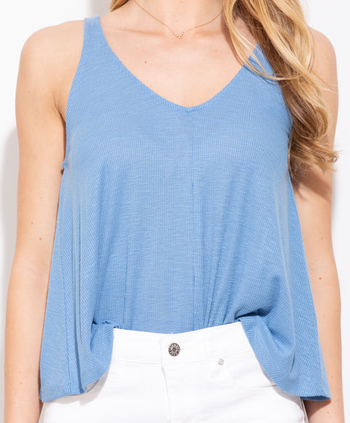 If I Know Me Sky Blue Tank - impromptu boutique