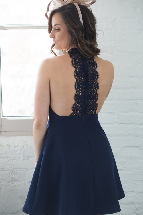 Front Runner Lace Skater Dress