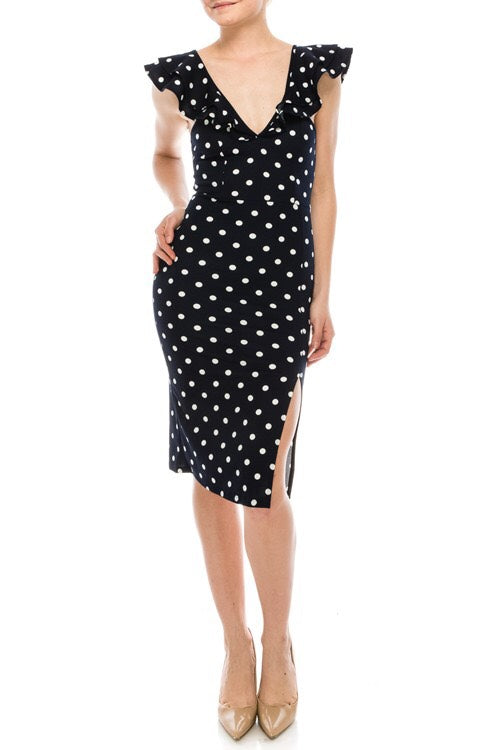 Maybe Baby Navy Polka Dot Dress - impromptu boutique