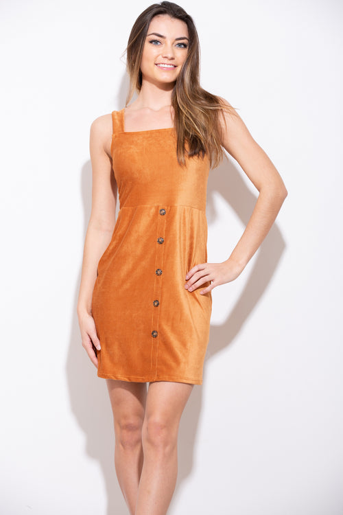 Take Me With You Caramel Dress