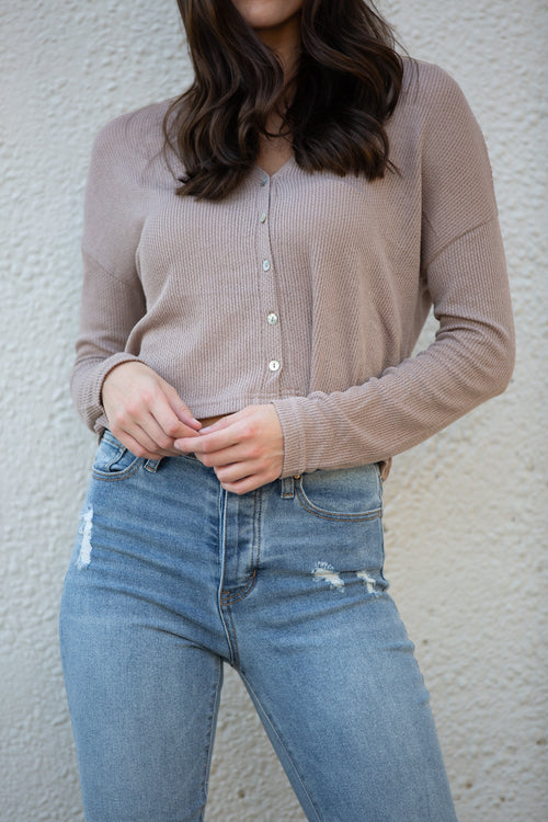 You Should Know Stone Knit Top