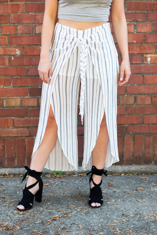 Along For The Ride Stripe Pants - impromptu boutique
