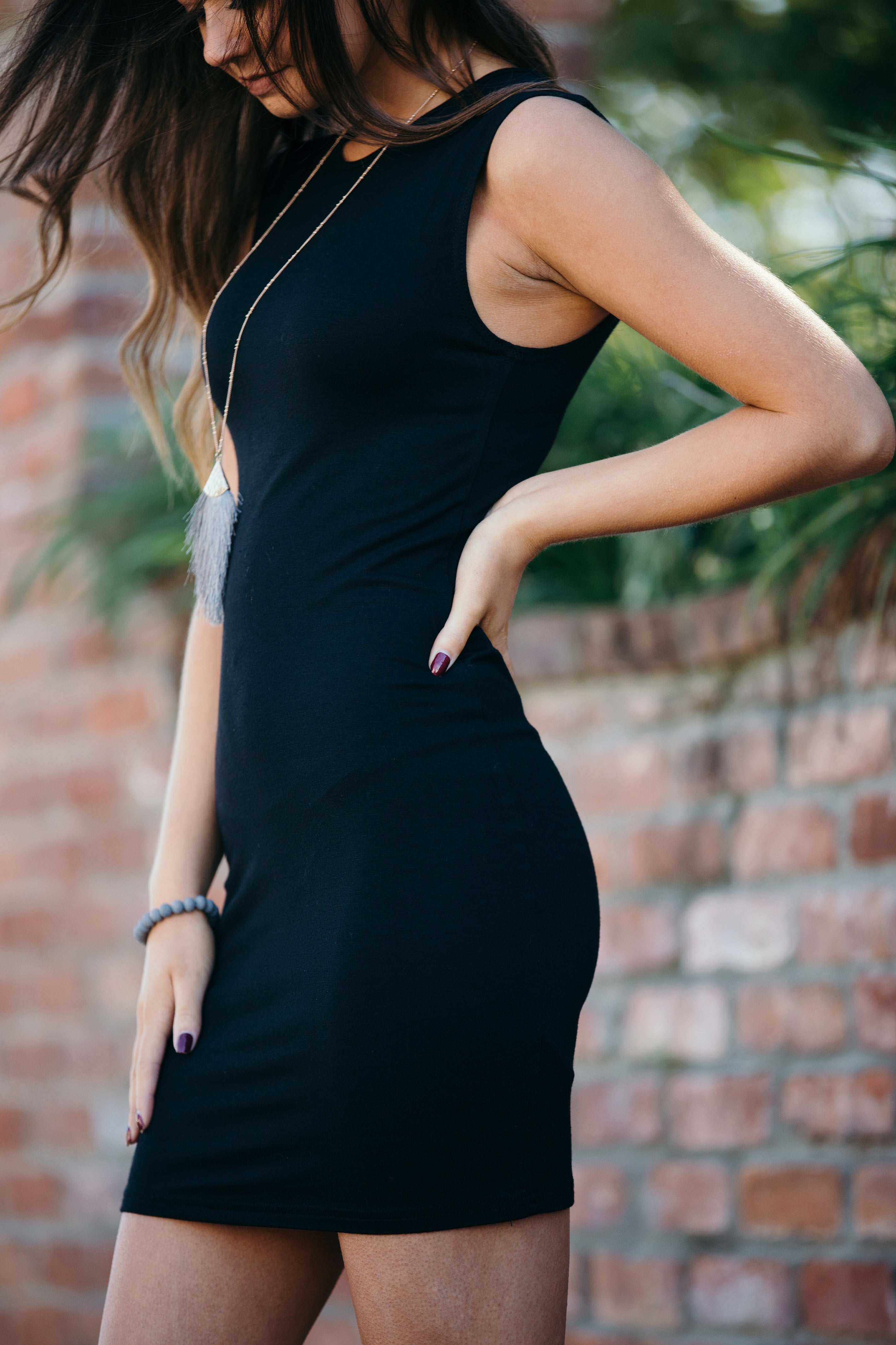 Stay The Course Sleeveless Black Dress