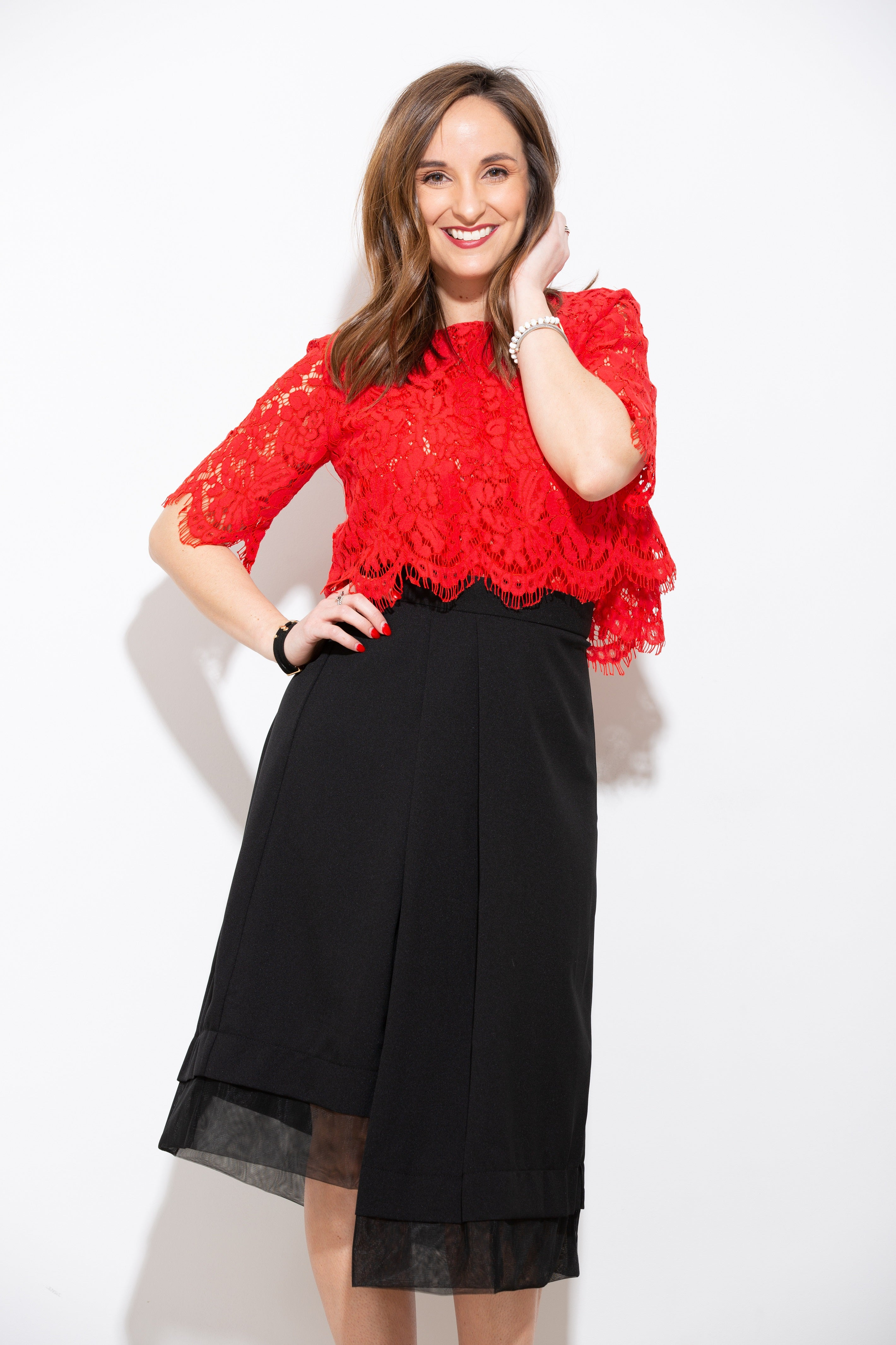 Love You Always Red Lace Top - impromptu boutique