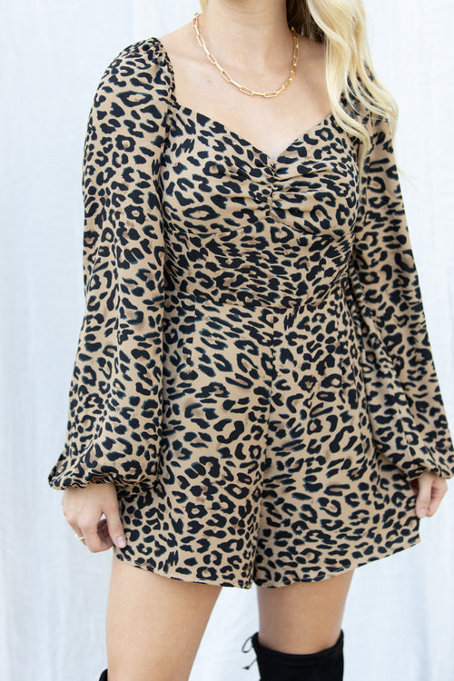 Significant Other Leopard Romper