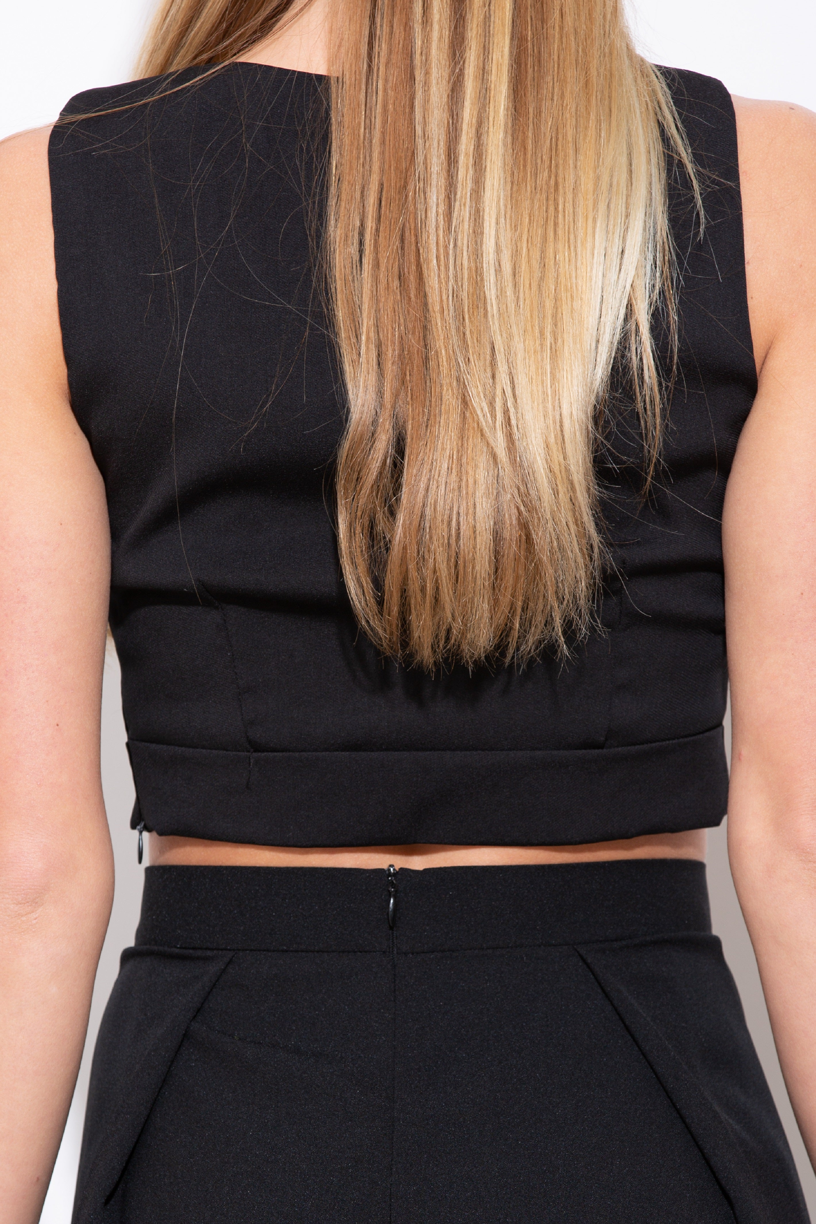 Play The Part Black Crop Top