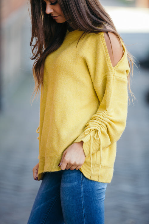 Simply Be Mine Yellow Sweater