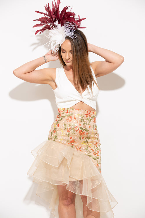 Favorite Distraction Embroidered Skirt - impromptu boutique