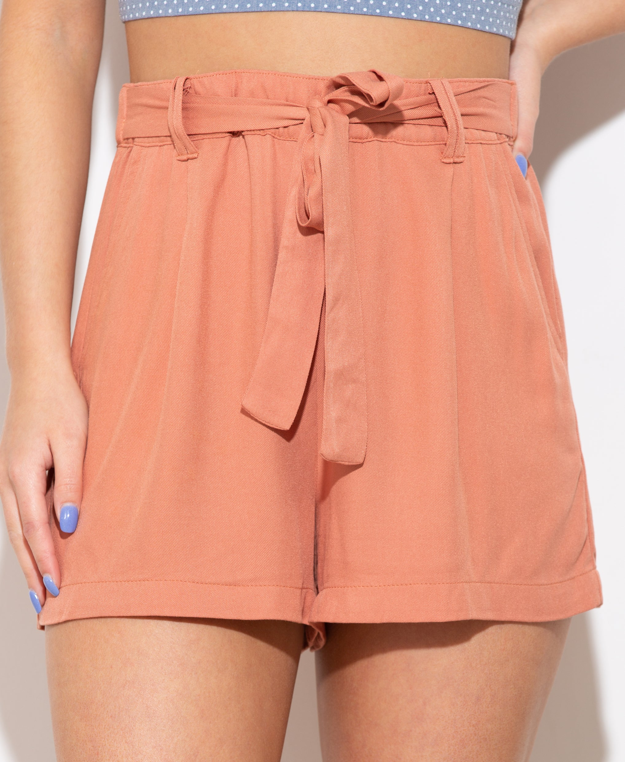 Take A Chance Dusty Peach Shorts