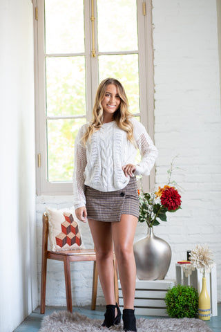 Tale to Tell Floral Grey Sheer Cardigan