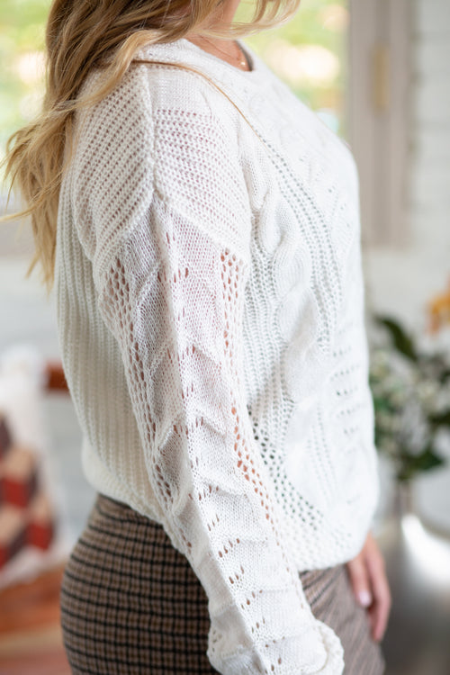 Cozy Days Cable Knit Sweater - impromptu boutique